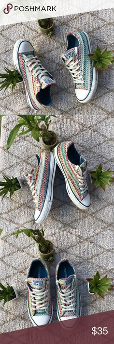 Converse All Star 💙💙💚💛❤️ they were used once💚💚. Converse Shoes Sneakers