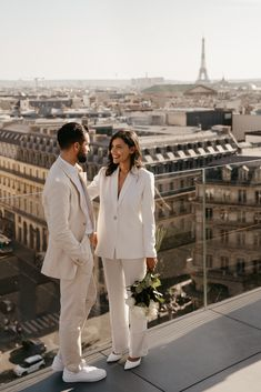 Wedding Suits, Wedding Couples, Wedding Engagement, Wedding Goals, Dream Wedding, Paris Engagement Photos, Civil Wedding, Courthouse Wedding, Pre Wedding Photoshoot