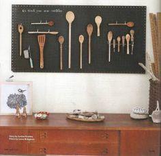 Tiny kitchen space + peg board = best utensil holder ever!