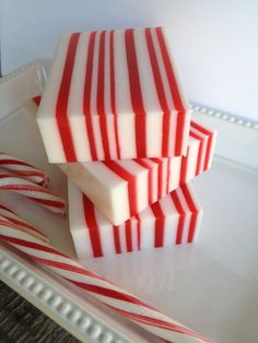 Candy Cane Soap  christmas soap holiday soap by SeasideSoapKitchen