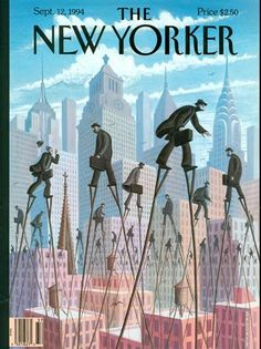 The New Yorker cover, New Yorkers on Stilts