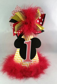 Personalized Minnie Mouse Birthday Party by DoodlesDotsnDimples Birthday Party Hats, Minnie Mouse, Christmas Ornaments, Halloween, Holiday Decor, Unique Jewelry, Handmade Gifts, Etsy, Kid Craft Gifts