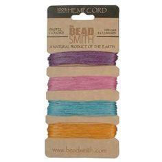 Hemp Twine Bead Cord .55mm - Pastel Colors App 42 Feet Beadsmith