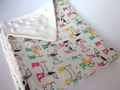 Baby Security Blanket Lovey Dachshunds in by KaleidescopeStitches, $14.00