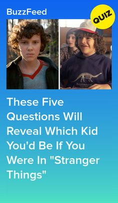"""These Five Questions Will Reveal Which Kid You'd Be If You Were In """"Stranger Things"""" Stranger Things Quiz, Stranger Things Aesthetic, Buzzfeed Test, Quizzes For Fun, Netflix Tv, Trivia Quiz, Iphone 6, Tv Shows, Barbie"""