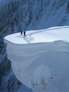 On the Edge, Mount Blanc, France.