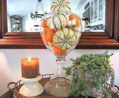 Fall Decorating  www.classiccasualhome.com