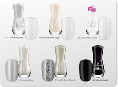 time for black and white! which of these gel nail polishes is your favorite?  #longlastinglove
