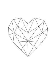69 super Ideas for tattoo geometric heart patterns Geometric Drawing, Geometric Heart Tattoo, Geometric Sleeve, Geometric Wall Art, Contemporary Wall Art, Heart Patterns, Geometric Designs, Geometric Shapes, Geometric Flower