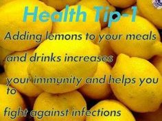 Add Lemons in your Meals. #lemon #healthtip http://paleoaholic.com/