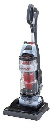 The #Panasonic #MC-UL975 #AeroBlast is Panasonic's top-of the-line bagless upright vacuum. The HEPA filtration captures 99.97% of particles down to 0.3 microns while the AeroBlast system cleans the filter automatically. The barefloor selector lets you turn off the brushroll to vacuum on bare floors. Dual edge cleaning lets you pick up on both sides of the brushroll.