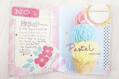 A Little Pastel Journal Update  These journal is so very beautiful, I wish I was as creative too...