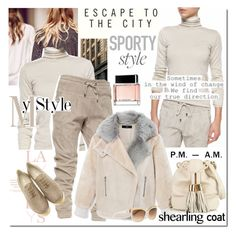 """Shearling Coat"" by elena-starling ❤ liked on Polyvore featuring Brunello Cucinelli, Givenchy, Abercrombie & Fitch, Christian Dior, See by Chloé, Giorgio Armani, shearlingcoat and fallwinter2015"