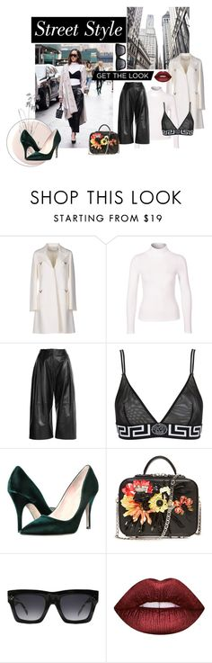 """Ney work FASH WEEK"" by anifa1303 ❤ liked on Polyvore featuring Valentino, New Look, McQ by Alexander McQueen, Versace, Kate Spade, CÉLINE, Lime Crime, StreetStyle, NYFW and contest"