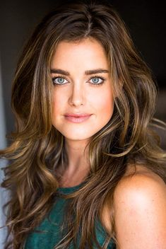 Ashley Newbrough, Medium Brown Hair, Long Dark Hair, Hollywood Celebrities, Hollywood Images, Great Hair, Green Eyes, Blue Green, Pretty Face