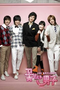 Title: 꽃보다 남자 / Boys Before Flowers Also known as: Boys Over Flowers Chinese Title : 花样男子 Japanese Title : 花より男子 / Hana Yori Dango Genre: Romance, comedy Episodes: 25 Broadcast network: KBS2 Broadcast period: 2009-Jan-05 to 2009-Mar-31 Air time: Monday & Tuesday 21:55#Jan Di is an average girl whose family owns a dry cleaning store located near the luxurious and well known Shin...