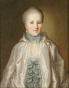 Johann Ludwig Strecker: Ernestine Rosine Goll, geb. Flachsland. Wohl um 1765/73