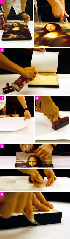 6-steps: How to mount a Photo to cover in ArtResin Epoxy Resin www.artresin.com…