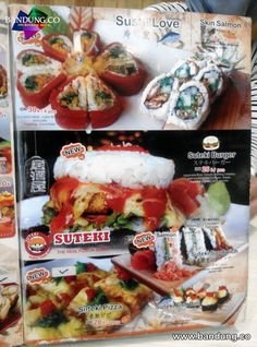 Menu Suteki Sushi