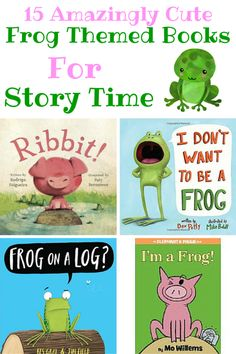 How cute! I love themed story times and these cute books about frogs are perfect for toddlers, pre-k, and elementary. Can't wait to read frog books with my kids.