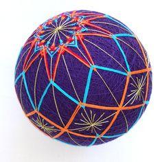 The pattern. Japanese Symbol, Japanese Art, Japanese Ornaments, Temari Patterns, Thread Art, Felt Hearts, Rock Art, Art Forms, Cross Stitch Embroidery