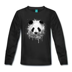 Tee shirt manches longues Cool Artistic Panda Portrait conception d'aquarell #cloth #cute #kids# #funny #hipster #nerd #geek #awesome #gift #shop Shop more bags here:  http://www.pinkice.com/Shop/ACCESSORIES/Bags/29