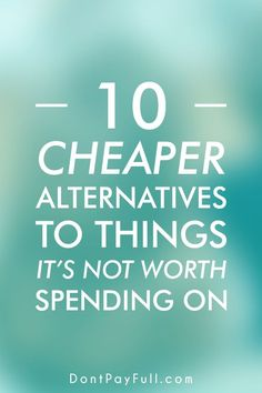 You want to buy something but is too expensive? Here you will find the cheaper alternatives to your goods! #DontPayFull