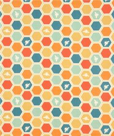 colourful bee honeycomb organic fabric by birch from the USA 2  -- found at modes4u.com ... KB bee fabric