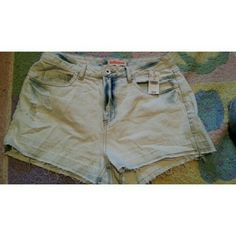 Selling this Light blue denim distress High rise shorts size 11 in my Poshmark closet! My username is: andieemichelle. #shopmycloset #poshmark #fashion #shopping #style #forsale #Wet Seal #Pants