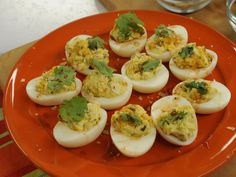 Sunny's Devilish Eggs recipe from Sunny Anderson via Food Network