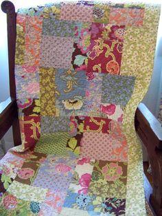 Gypsy Caravan Baby Girl or Toddler Quilt - Amy Butler. $125.00, via Etsy.