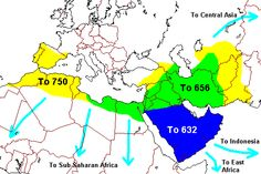 Islam spread to all parts on Southeast Asia into Northern Africa.