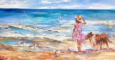 """. . """"Walk on the Seashore"""" by Artist Diana Malivani - Oil on canvas painting, 50 by 100 cm, 2020 - Collection """"Selected Seascape Art"""" . #artistdianamalivani #artist_diana_malivani #gwrartgallery #gwr_art_gallery #художник_диана_маливани . #impressionism #impressionist #impressionistpainting #impressionistpainter #импрессионист #impressionistic #impressionistes #impressionists #impressionistpaintings #impressionistartist #импрессионисты #impressionista #empresyonist #русскийимпрессионизм… Seascape Paintings, Animal Paintings, Seaside Art, Sea Art, Source Of Inspiration, Figurative Art, Oil On Canvas, Art Gallery, Artist"""