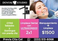 Flyer dental Studio dentist puebla consultorio