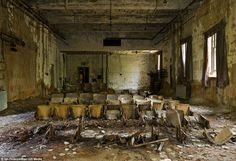 The lost island of New York: abandoned leper colony just 350 yards from the Bronx.The lost world of North Brother - quarantine zone, leper colony and centre for drug addicts.It is hard to believe that  this was home to hundreds of patients.Eerie: The skeletal remains of chairs lie on the floor in a small auditorium in the school and services building.