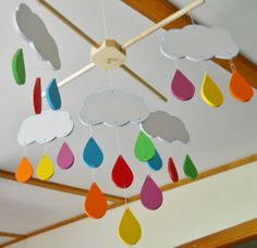 Mobile Nursery Decor Bedroom Decor Rainbow by 2HeartsDesire, $65.00