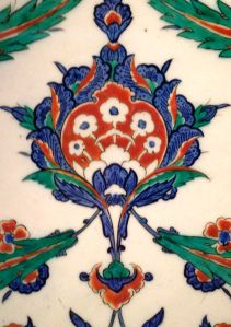 Islamic Art: Principles and Elements of Design Red Things is red color allowed in islam Islamic Tiles, Islamic Art, Floral Theme, Art Floral, Ceramic Tile Art, 7th Grade Art, Islamic Patterns, Turkish Design, Antique Tiles