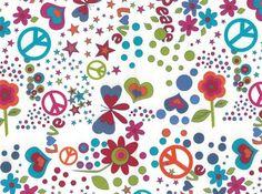 Paz e amor de algodão