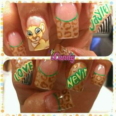 Love the cheetah and green!!! Not do much lion king in the mix
