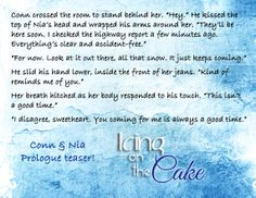 Icing on the Cake by Karla Doyle Prologue teaser ;)