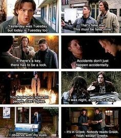 Funny pictures about Supernatural logic. Oh, and cool pics about Supernatural logic. Also, Supernatural logic. Quotes Supernatural, Sammy Supernatural, Sherlock Quotes, Sherlock John, Sherlock Holmes, Watson Sherlock, Supernatural Mystery Spot, Supernatural Episodes, Jim Moriarty