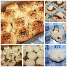 Pizza Boller | Spiselise Hamburger, Food And Drink, Bread, Baking, Bread Making, Patisserie, Hamburgers, Breads, Backen