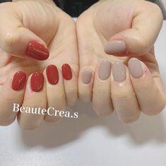 """@beautecrea_kajiwara on Instagram: """"nail…☺︎ @beautecrea_nail #nail #アシンメトリーネイル #秋ネイル #handnail #おしゃれネイル #ニュアンスネイル #手描きネイル #クリア感ネイル #シンプル #おしゃれネイル #お洒落 #おしゃれ #可愛い #美爪 #gel…"""" Gelish Nails, Manicure, Make Me Up, How To Make, Nail Jewelry, Neutral Nails, Short Nails, Nail Inspo, Cute Nails"""