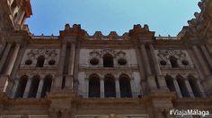 Fachada principal de la Catedral de Málaga.