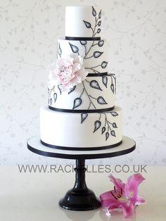 Black, White & Pink Cake