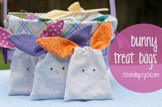 Free pattern: Bunny treat bags with knotted ears