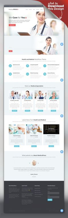 MedicalPress - Health and Medical WordPress Theme clinic, dentist, doctor, health, hospital, insurance, medical, medicine, patient, pharmacy, rehabilitation, service, surgeon, treatment MedicalPress is a handcrafted WordPress theme for Health and Medical industry. It is a highly suitable theme for doctors, dentists, hospitals, health clinics, surgeons and other types of health organizations. It has purpose oriented design, responsive layout a...