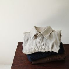 "lylaandblu:  "" Linit Regular Collar Basic Shirts  """