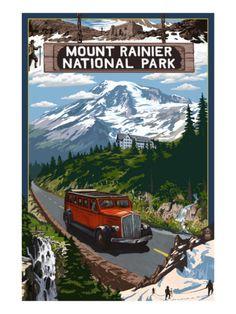 Mount Rainier National Park Premium Poster