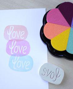 Azucarillos de Colores: Vamos a carvar sellos!